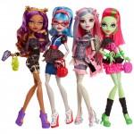 Набор из 4 кукол серии Ночь Монстров - Клодин, Гулия, Рошель, Венера